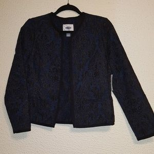 Old Navy embroidered jacket size med NWT